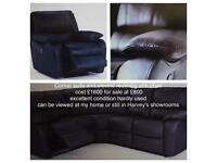 Dark brown corner suite and electric reclining arm chair