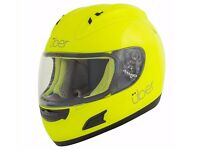 Brand New Ex Demonstration Uber Imola ACU Gold Full Face Motorbike Motorcycle Scooter Crash Helmet