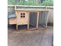 Hen/chicken coup and run complete with feeder and water dispenser