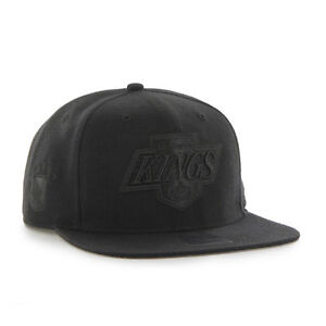 Los Angeles Kings LA - '47 Brand NHL Black On Black Sure Shot - Snapback Hat Cap
