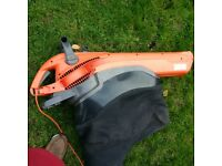 electric garden vac and leaf blower vgc