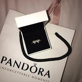 Brand new Pandora delicate sentiments bow pearl ring