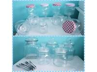 Candy cart sweet jars