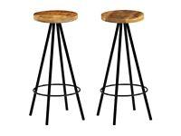 Bar Chairs 2 pcs Solid Mango Wood-246238