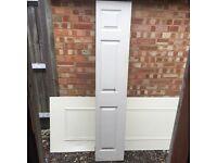 Interior wooden folding door, white colour