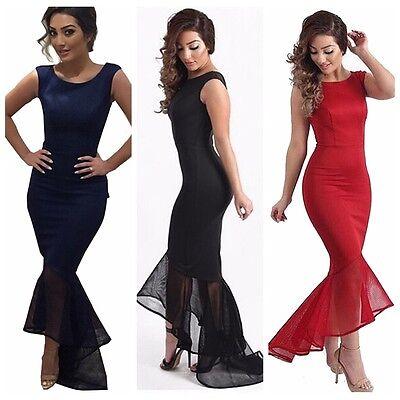 Elegant Sexy Dresses - New Sexy Woman's Fishtail Mermaid Elegant Bodycon Long Party Evening Maxi Dress
