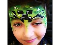 **party faces** children's face painter / painting