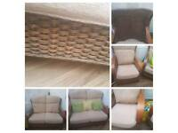 High quality wicker furniture two setter sofa and two arm chairs very strong garden room furniture