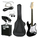 Full Size Electric Guitar with Amp, Case and Accessories Pack Beginner Starter
