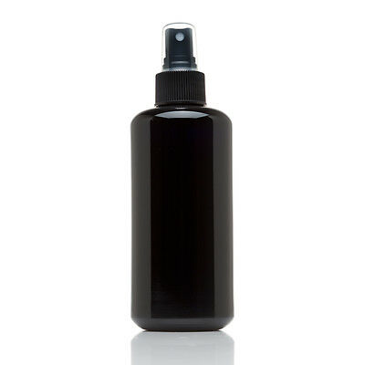 Infinity Jars 200 Ml (6.7 fl oz) Black Ultraviolet Glass Fine Mist Spray Bottle