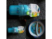 Avent cup +&+ Toddlers Feeding Plate