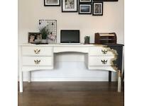 Vintage Gold Leaf Dual Colour Desk