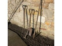 Small selection of garden tools