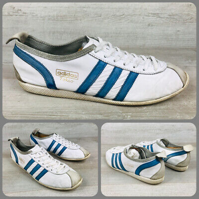 Adidas Tokio, Sz UK 9, US 6.5, Originals, Vintage, White & Royal Blue