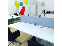 Smart spacious desks in colourful studios near centre. 50% off first month.