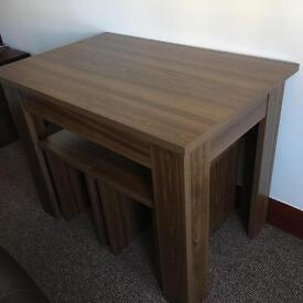 Space Saving Dining Table and 4 Stools
