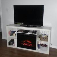 For sale IKEA EXPEDIT fireplace. White. 169$.