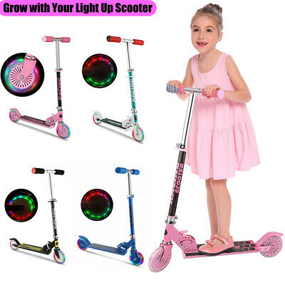 Kid Scooter Deluxe for Adjustable Kick Scooters Girls Boys 2LED Wheels Best