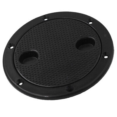 Marine RV Black 4 inch Access Hatch Cover Twist Screw Out Deck Plate