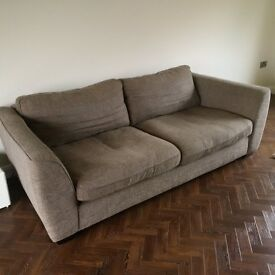 4 seater sofa with swivel armchair and footstool