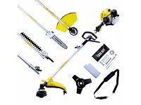 5 x Job Lot 2 Stroke Garden Multitool 52cc 3.5HP Brushcutter Strimmer Chainsaw Hedgecutter
