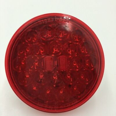 trucklite 4 oval red led light 12v stop turn signal tail style 50 4050 3 new