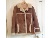 Vintage women's sheepskin coat size 12-14
