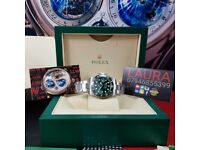 Complete Package silver strap green face green ceramic bezel Rolex submariner automatic sweeping