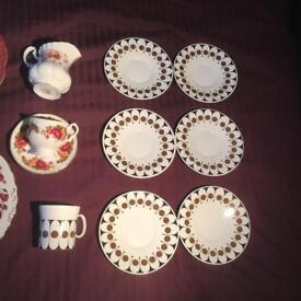 35 pieces assorted Vintage China