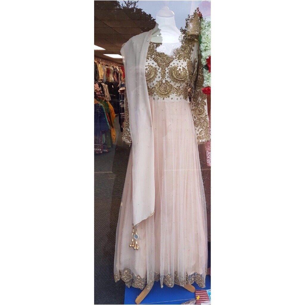 pakistani/asian/indian nikkah trail dress