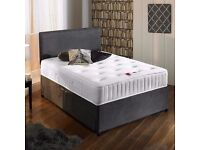 Can Deliver Today BRANDNEW Good Quality Suede Divan Set Various Colours Matching colour Headboard