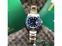 Rolex Submariner 116613LB Gold Watch