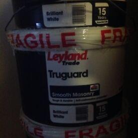 Leyland truguard White masonry paint