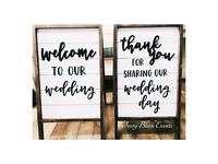 Hire - Welcome & Thank You Wedding Signs - Manchester - £30