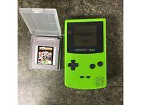 Nintendo Gameboy Colour Lime Green + 1 Game