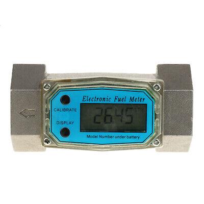 Turbine Digital Diesel Fuel Flow Meter Oval Gear Flow Gauge 1.5inch 380L/Min
