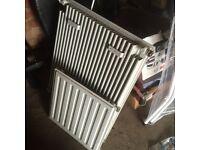 Single white radiator