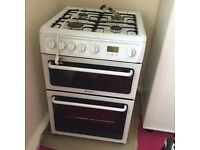 Hotpoint HAG60P Freestanding Double Oven Gas Cooker with Manual and still Under Guarantee