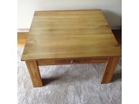 Oak solid square coffee table