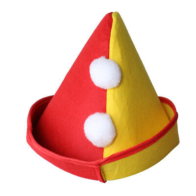 Novelty Clown Top Hat for Circus Magician Fancy Dress Birthday Party Supply