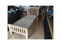Natural Solid Oak Single Bed, RRP £250