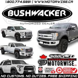 5% OFF Bushwacker Fender Flares | Bed Rails & More | Free Shipping Canada Wide | Order Online at www.motorwise.ca