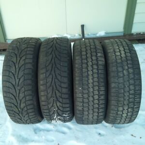 4 winter Tires on rims 2=185/65 R15, 2=195/65 R15, Only 3winters