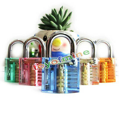 Locksmith Transparent Visable Cutaway Practice Padlock Lock Training Skill Pick