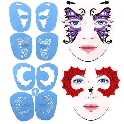 2 Set Spider Butterfly Reusable Body Art Face Paint Stencil Template Stencil](Face Paint Butterfly)