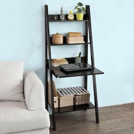 """Ladder"" Unit as Bookcase/ Storage or Laptop / Printer Unit, Black"