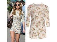 Celebrity Inspired Floral Playsuit