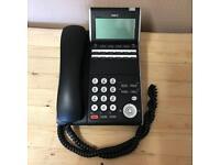 NEC DT300 Series DTL-12D-1P 12 Button Telephone Office Desk Phone Black