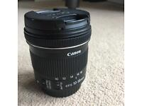 Canon 10-18mm ultra wide angle lens