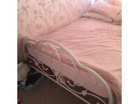 Double bed frame and memory foam mattress